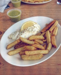 gluten free salcombe fish chips