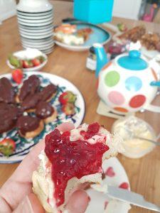 Gluten free scone jam cream