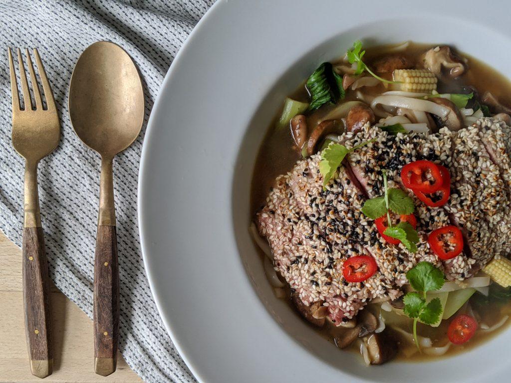 Steak and shiitake noodles recipes