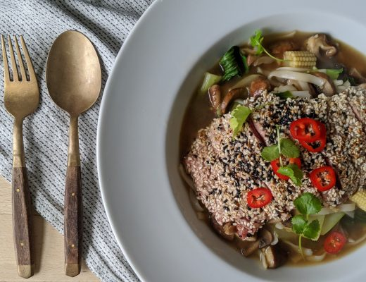 Steak and shiitake noodles recipes