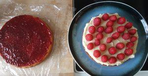 gluten free cake raspberries