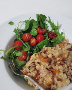 Risotto butternut pancetta