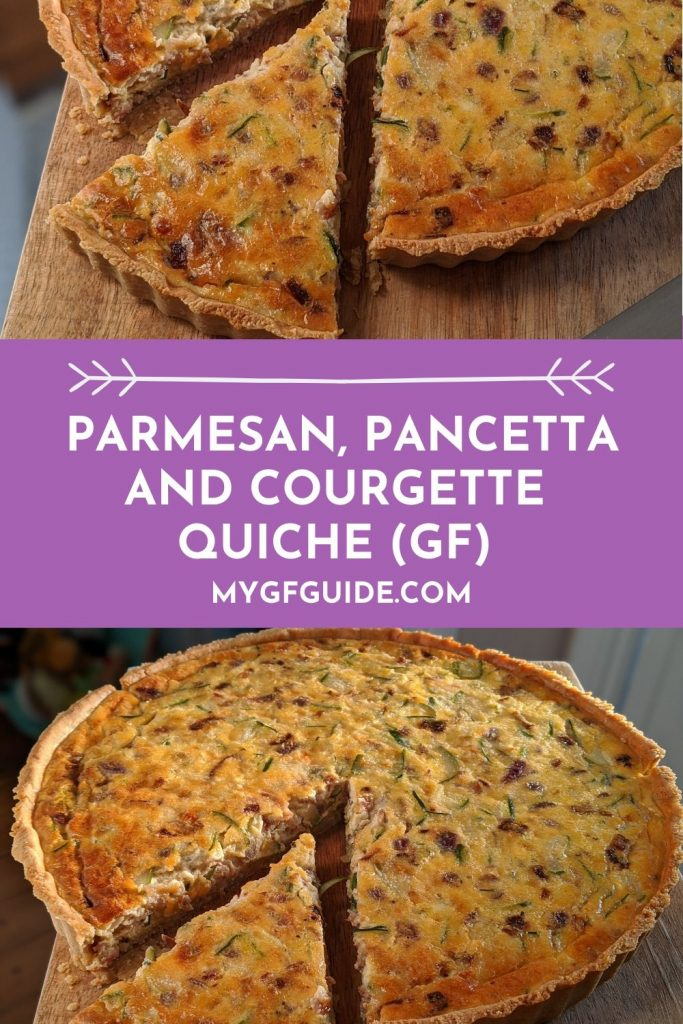 Gluten free quiche recipe uk - Parmesan, Pancetta and Courgette Quiche