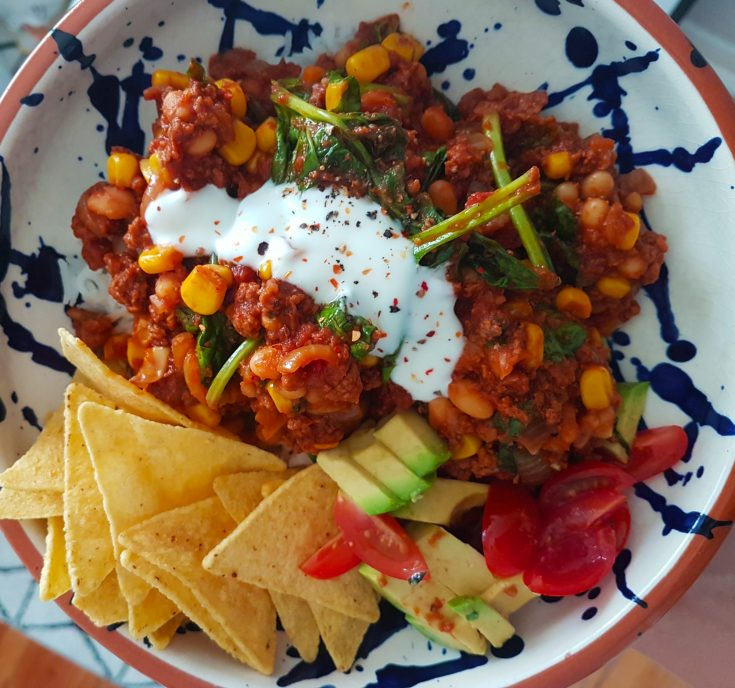 Sweet Potato & Black Bean Vegetarian Chili (GF, DF)