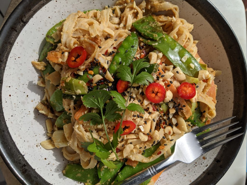peanut butter noodles gluten and dairy free recipe