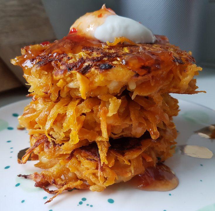 Sweet Potato & Halloumi Fritters (GF)