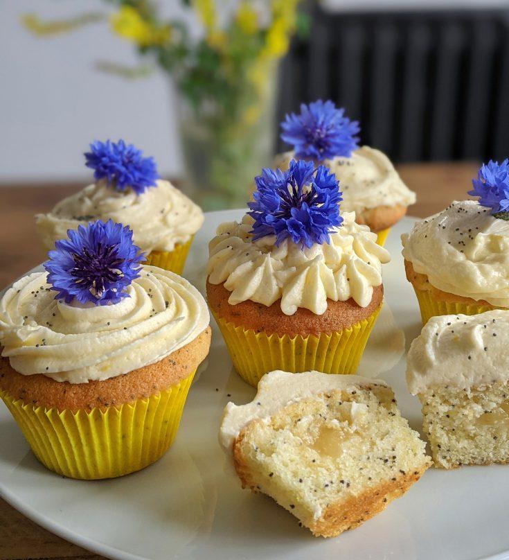 Gluten Free Lemon & Poppyseed Cupcakes
