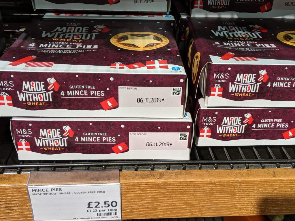 20 Gluten Free Mince Pies 2019 - Marks & Spencer Gluten Free Mince Pies