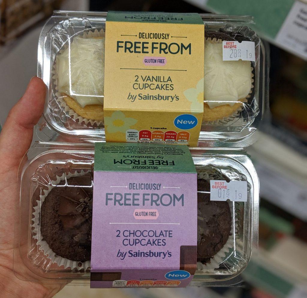 gluten free cupcake sainsburys