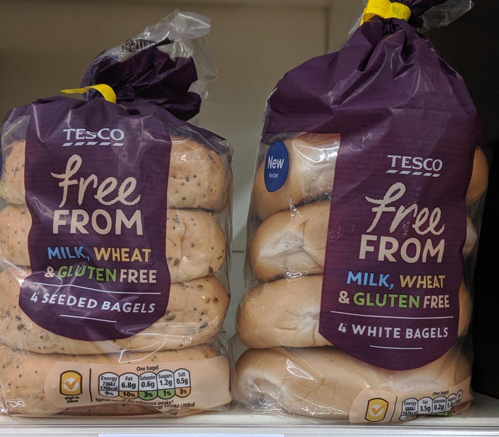 gluten free bagels tesco