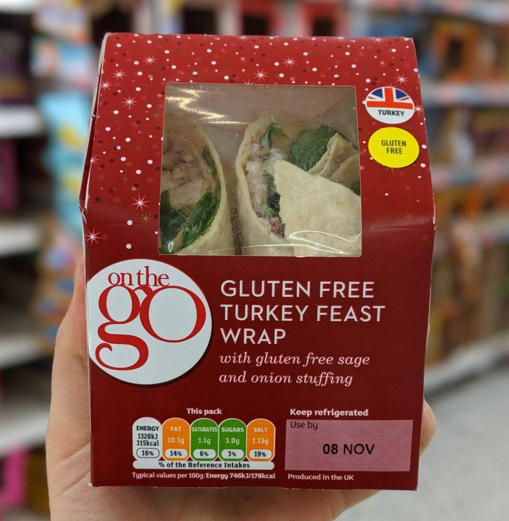gluten free christmas sandwich sainsburys turkey feast wrap