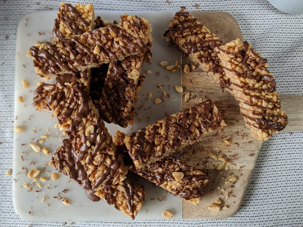gluten free blogger uk recipes peanut butter rice crispie treat bars my gluten free guide