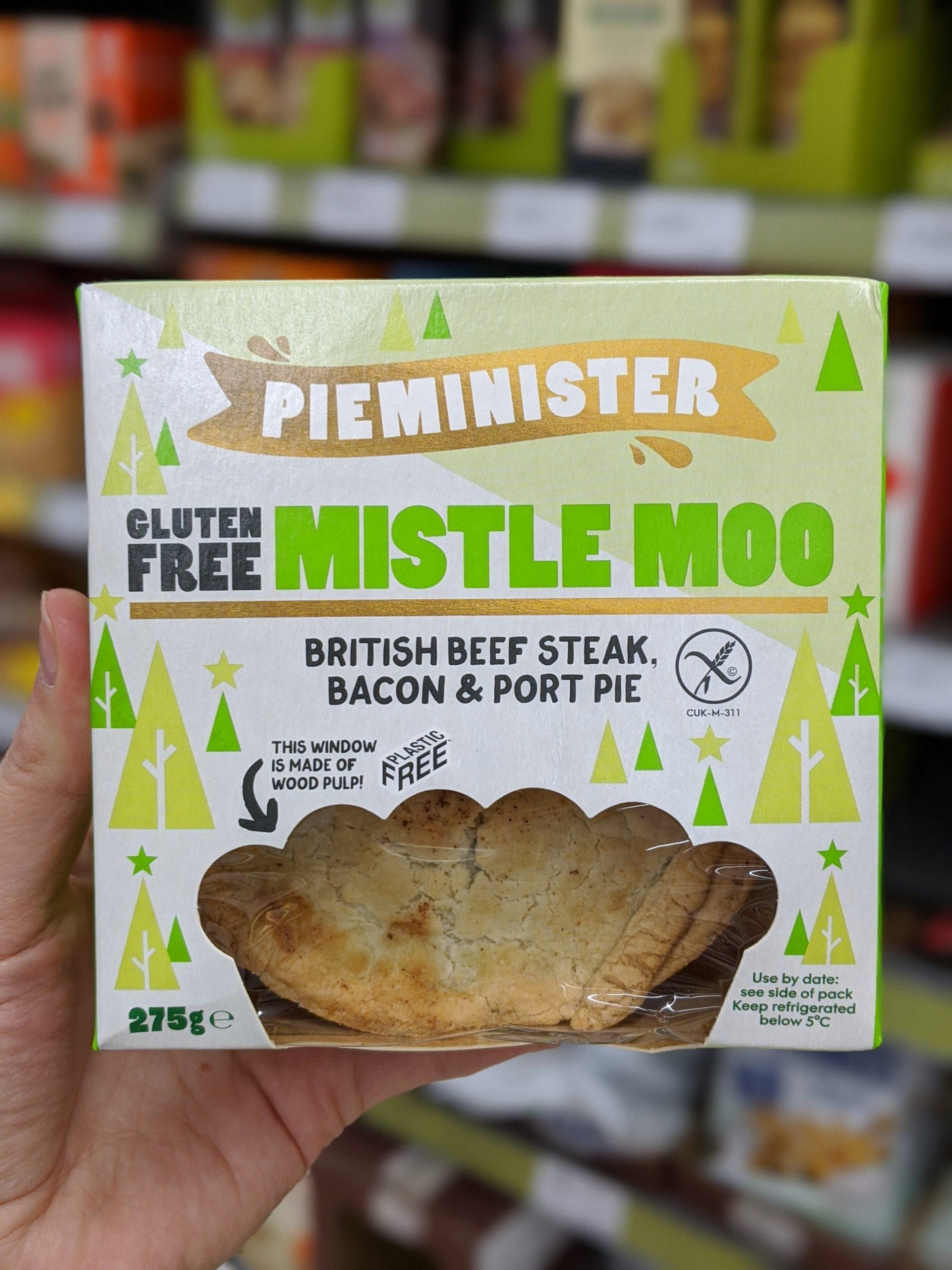 pieminister gluten free mistle moo gluten free christmas pie