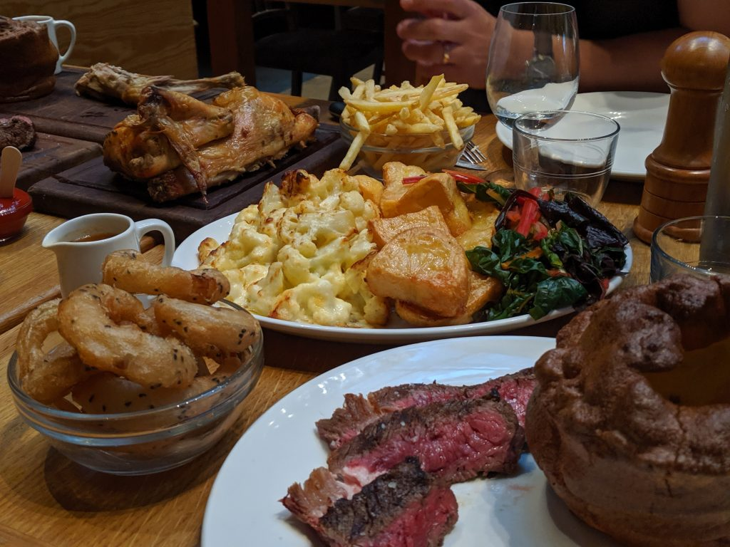 gluten free london sunday roast tramshed