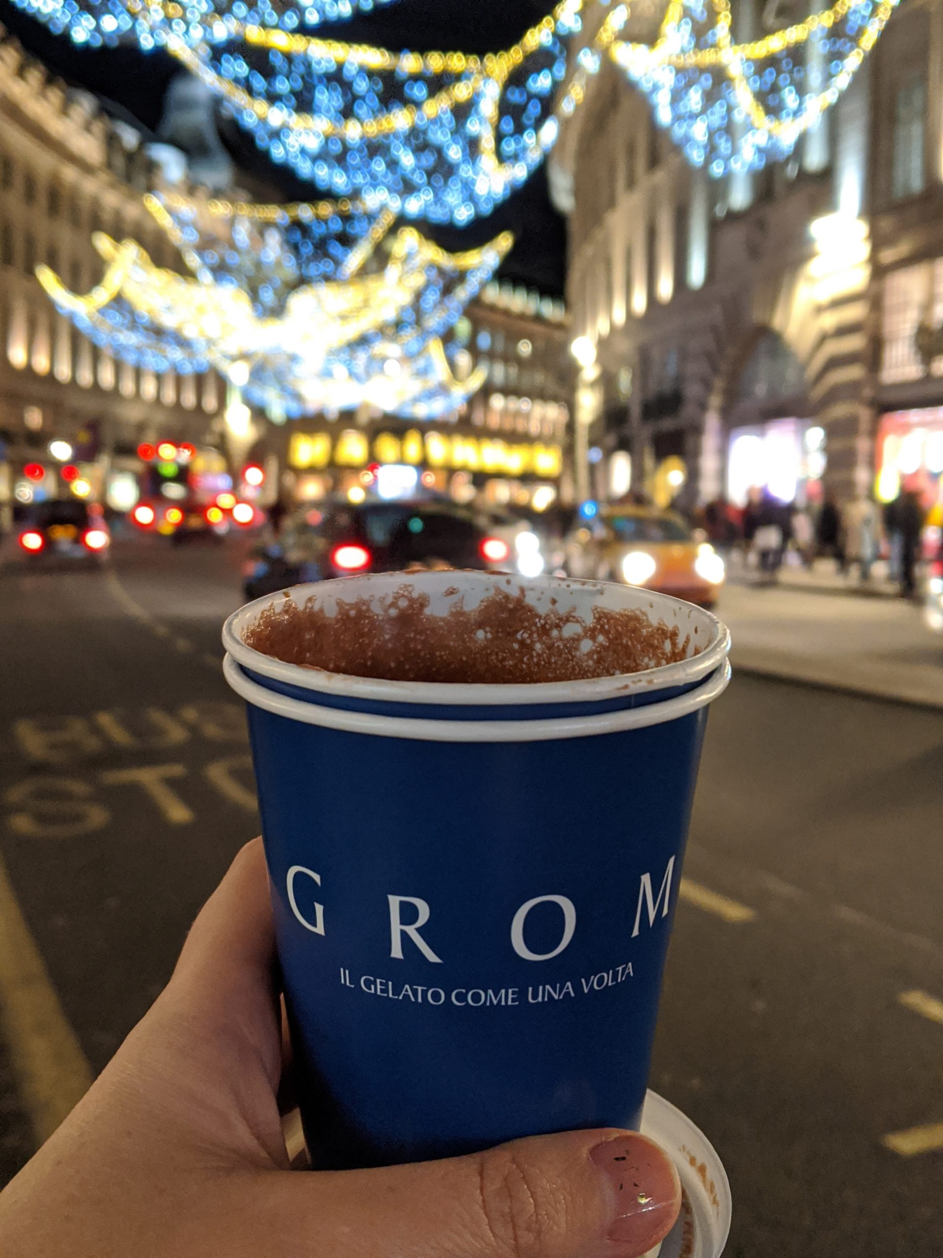 gluten free london grom hot chocolate