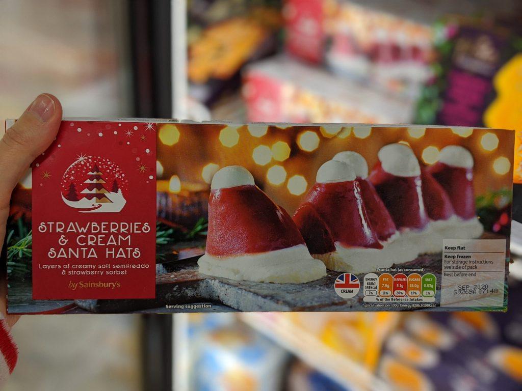 25 Gluten Free Desserts for the Festive Season - santa hats sainsburys