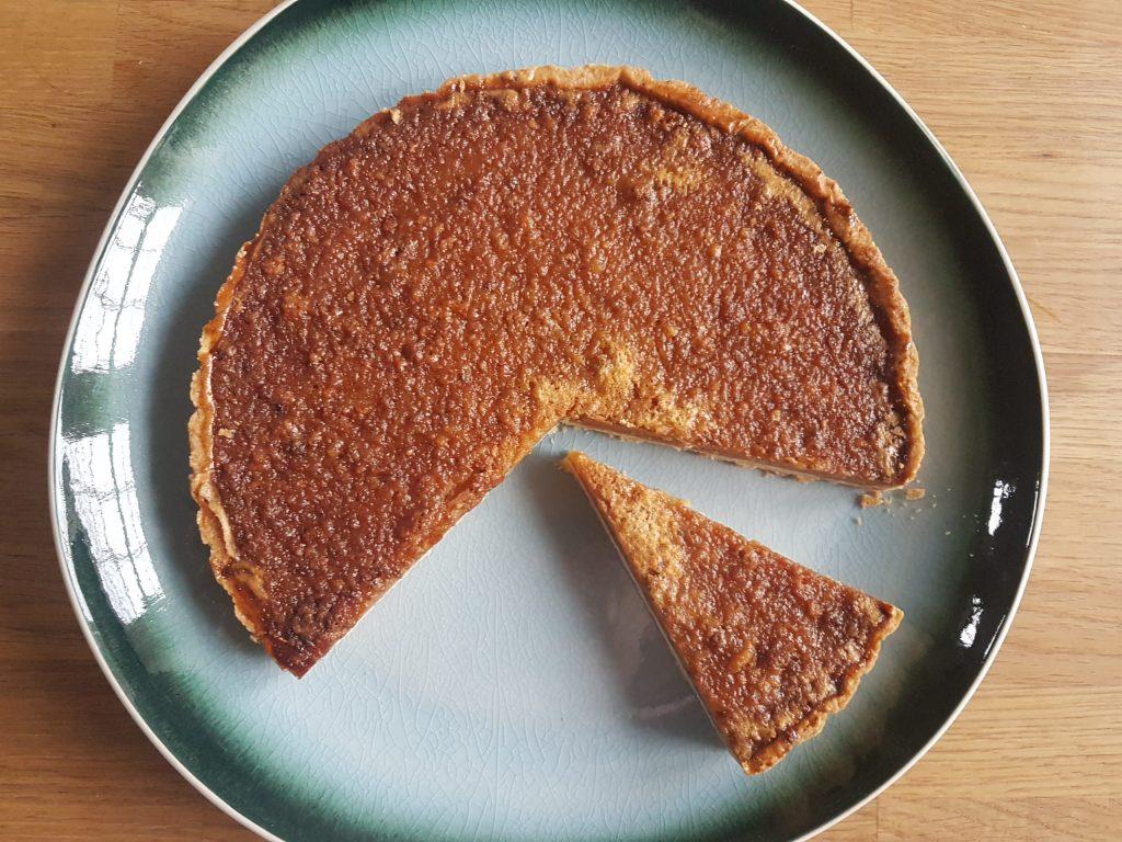 gluten free salted caramel treacle tart