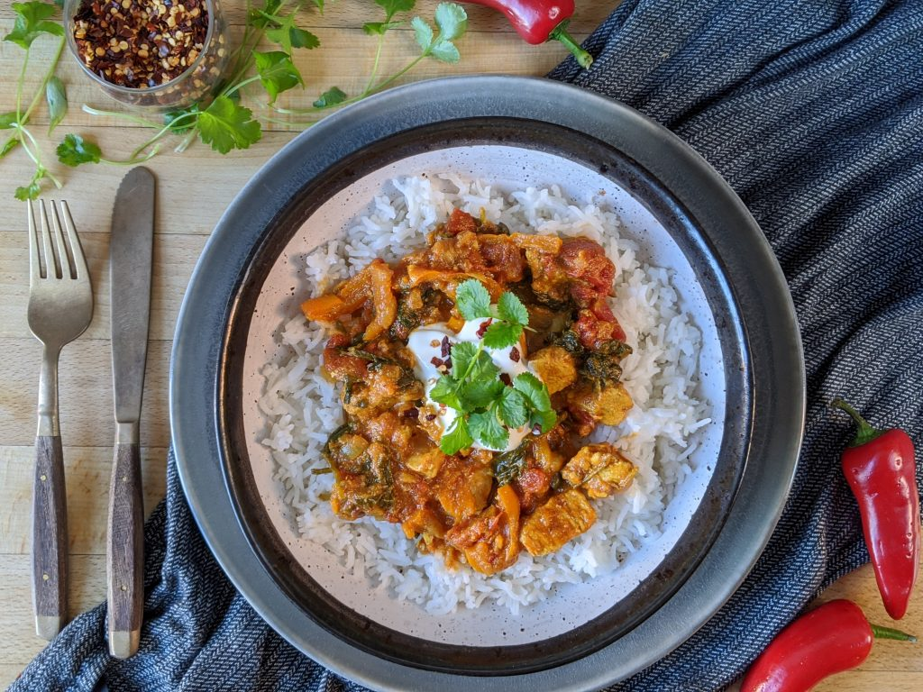 Indian-style chicken curry gluten free recipe