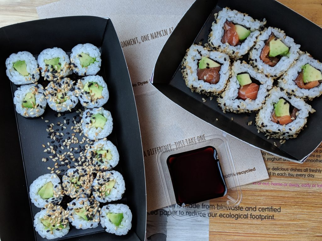 gluten free gatwick airport itsu sushi