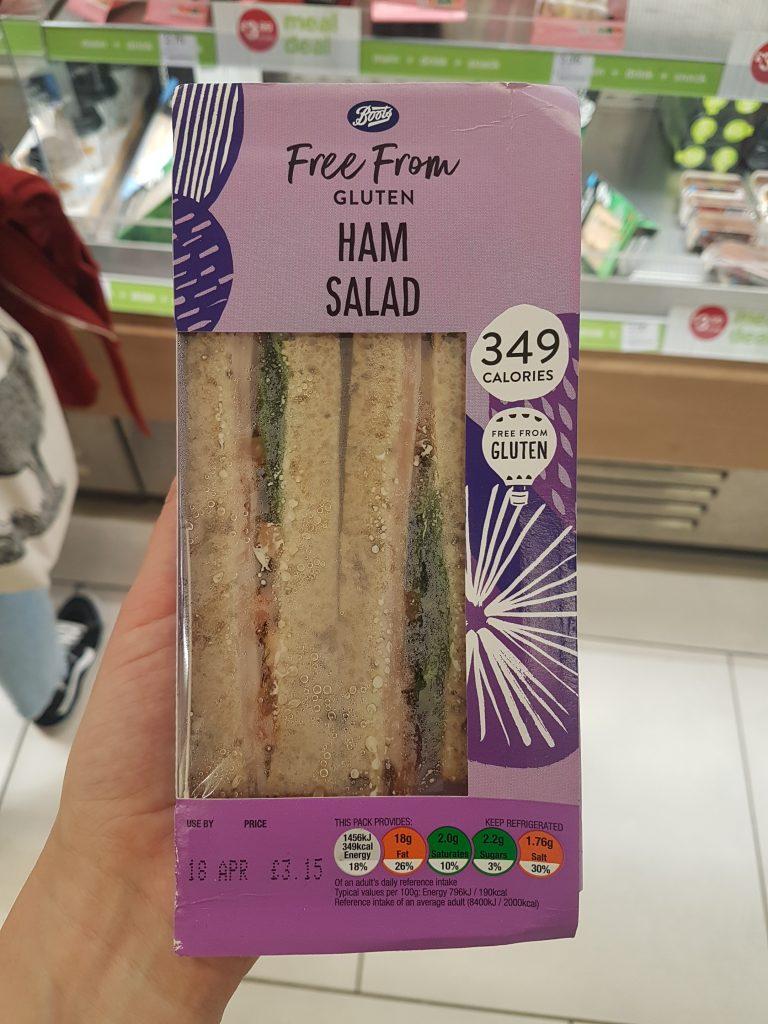gluten free gatwick airport boots sandwich