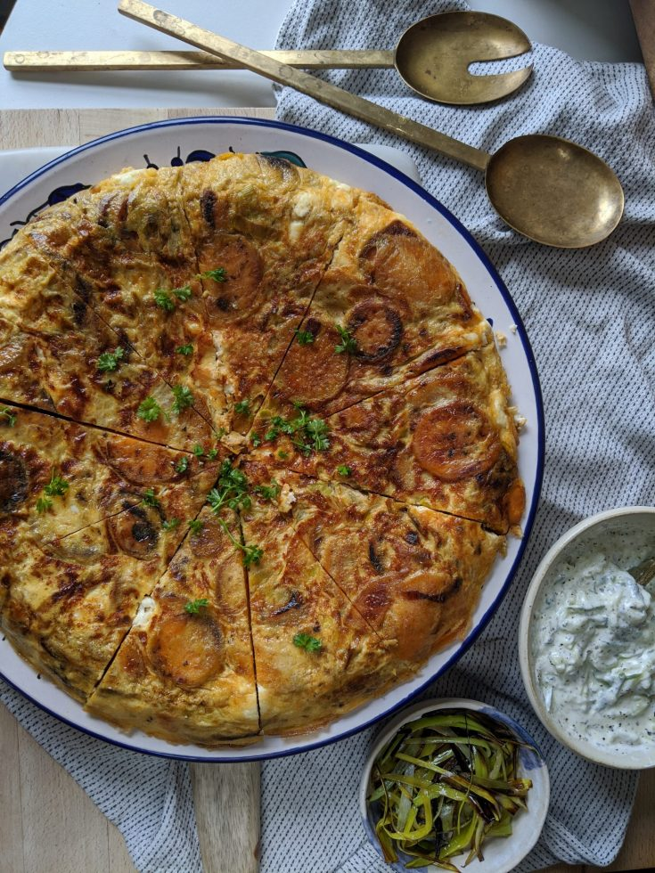 Sweet Potato, Leek & Feta Frittata