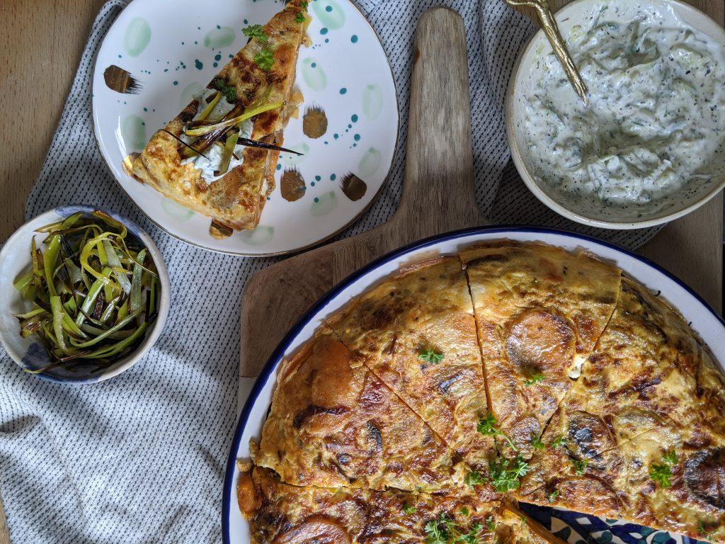 sweet potato leek feta frittata recipe uk