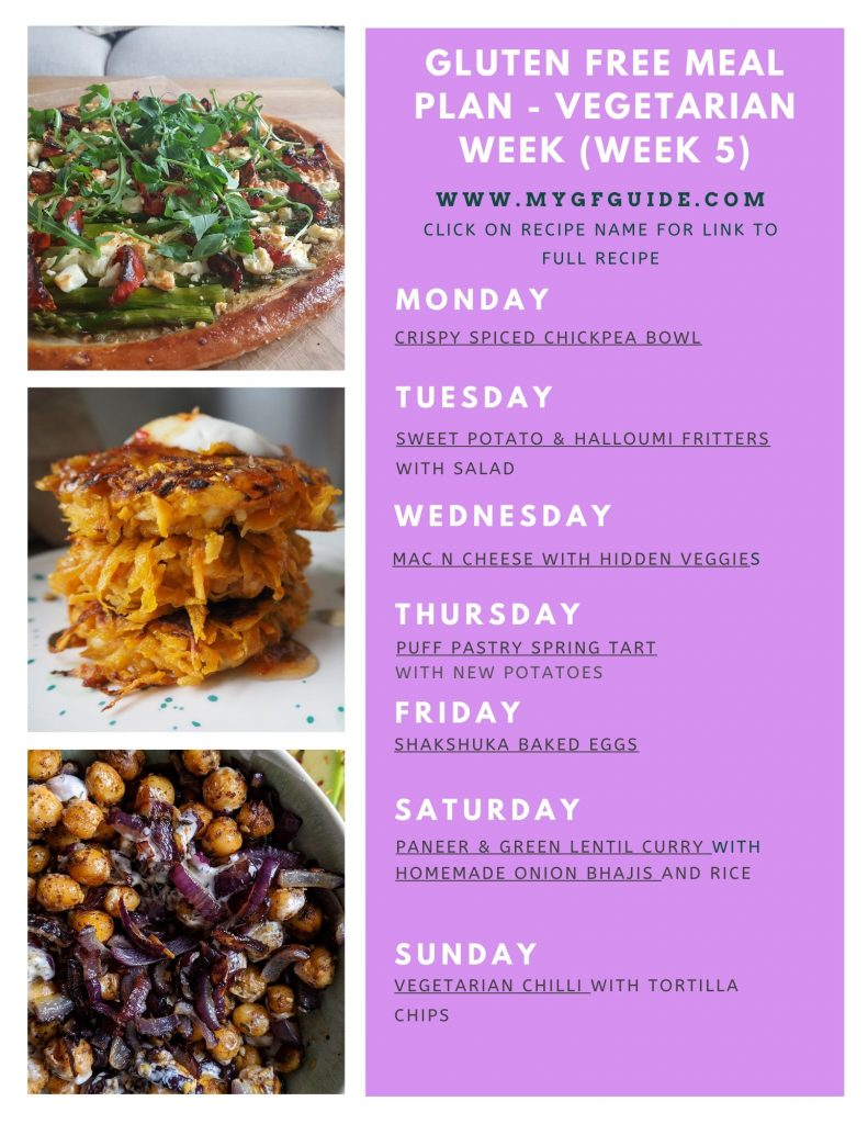 gluten free vegetarian meal plan