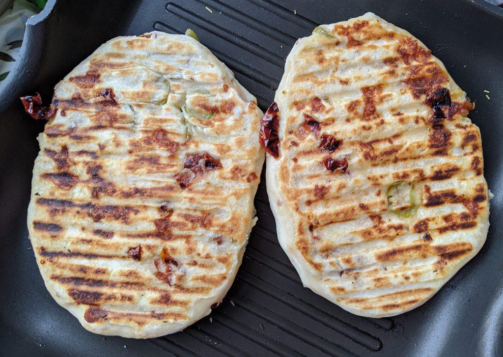 cooking gluten free flatbread