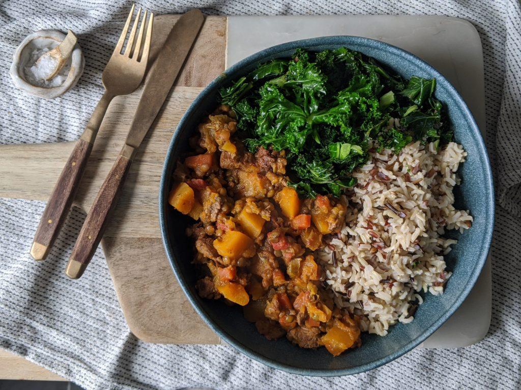 gluten free lamb & butternut squash stew
