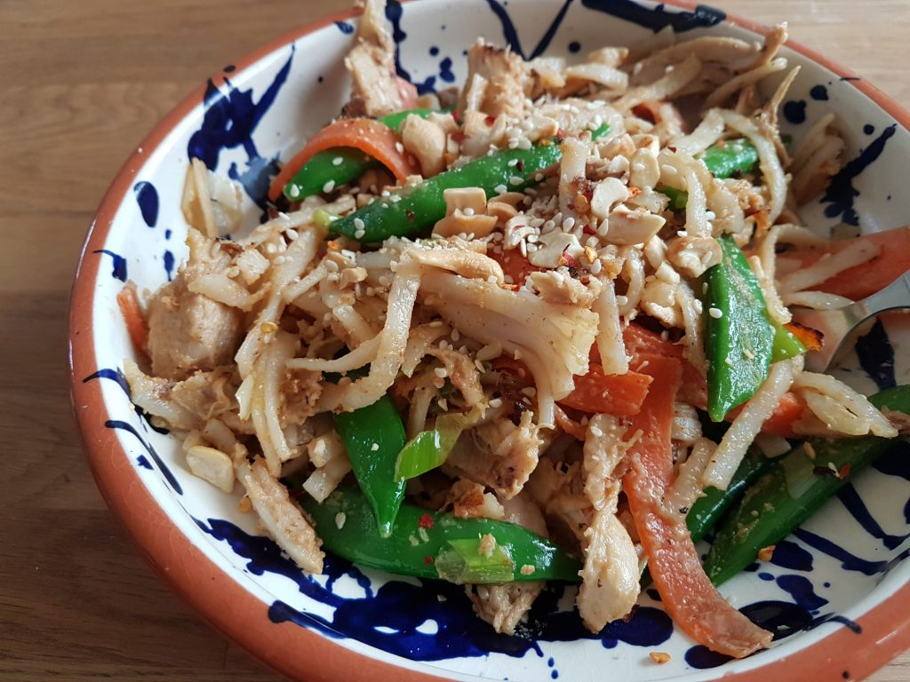 10 gluten free midweek meal recipes - peanut butter noodles
