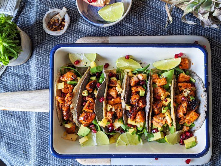 Maple Glazed Salmon Tacos (GF, DF)