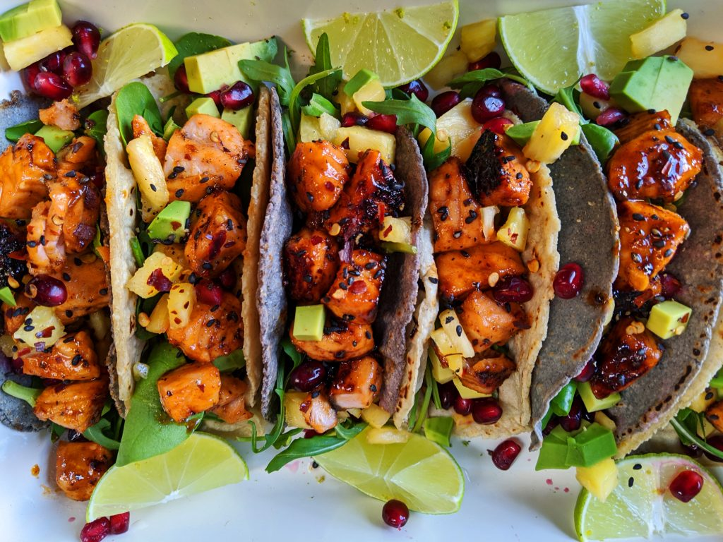 maple salmon tacos gluten and dairy free recipe