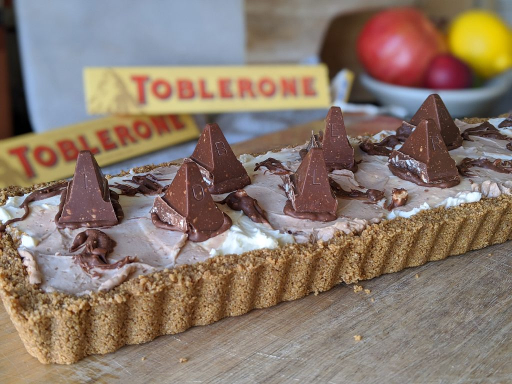 toblerone cheesecake tart