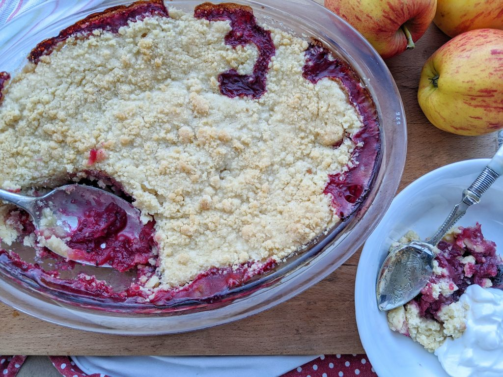 gluten free blackberry and apple crumble recipe