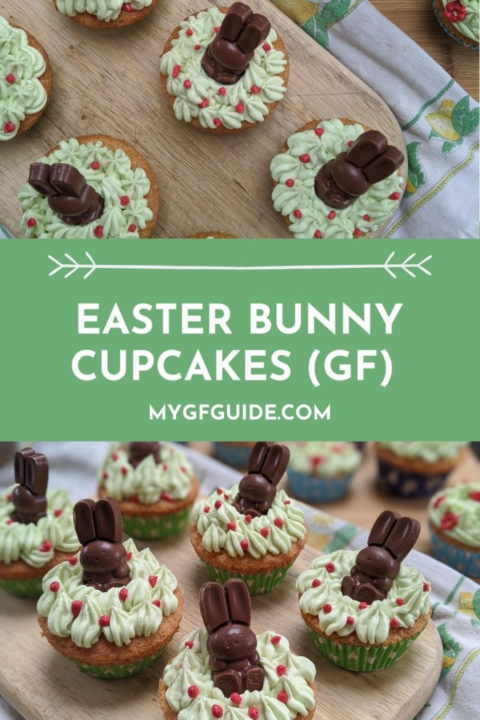 Gluten free Easter bunny cupcakes recipe - by Laura Strange at My Gluten Free Guide