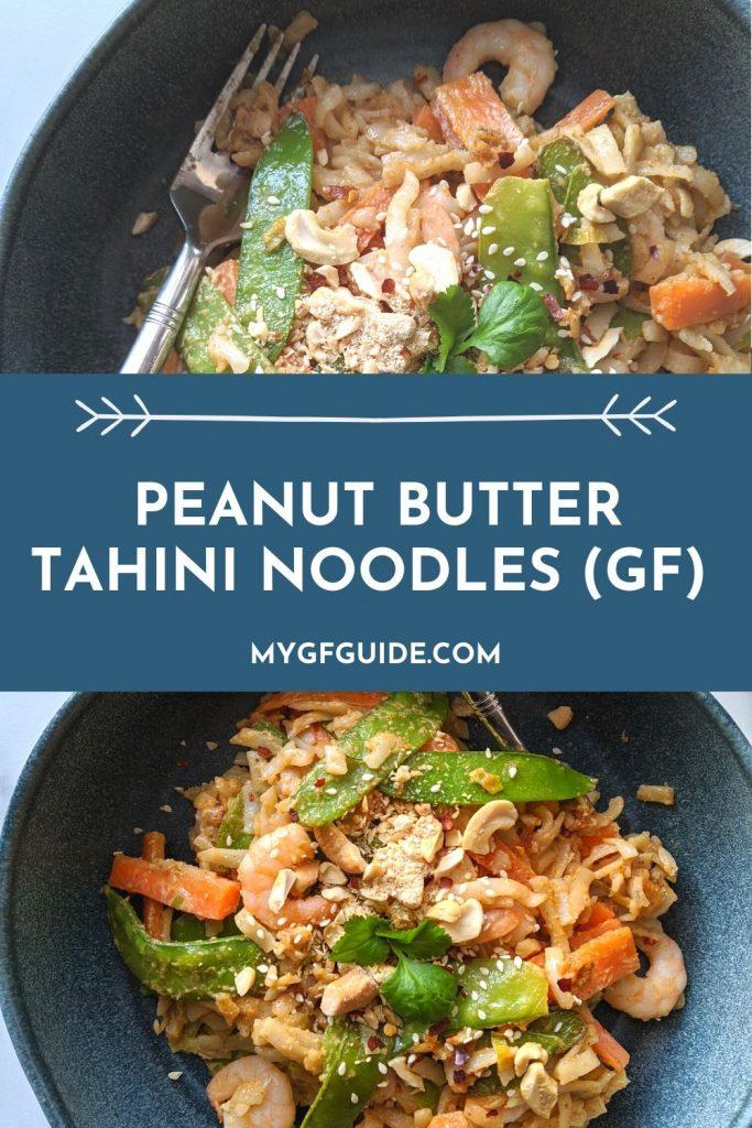 Peanut butter tahini noodles gluten free recipe