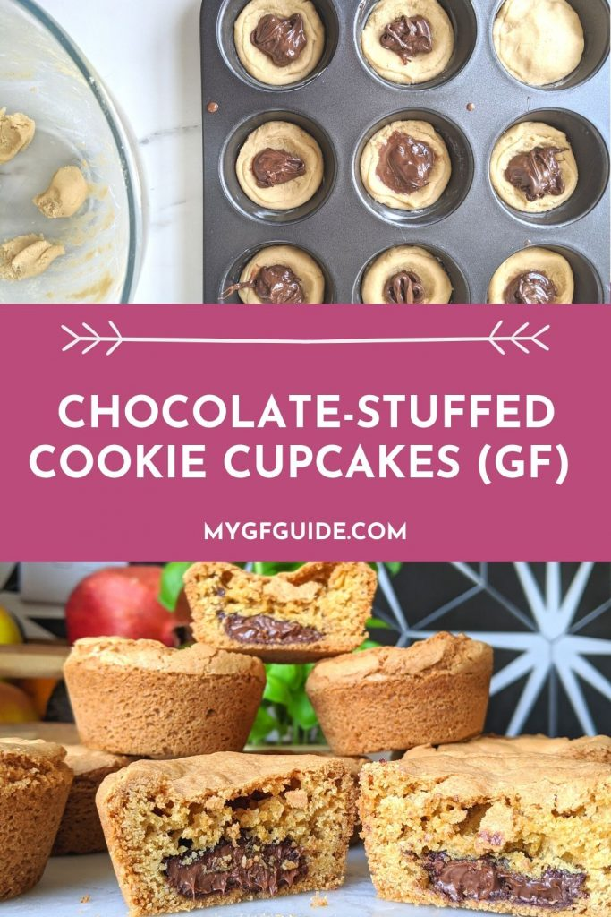 cookie cupcakes recipe gluten free uk with chocolate nutella filling