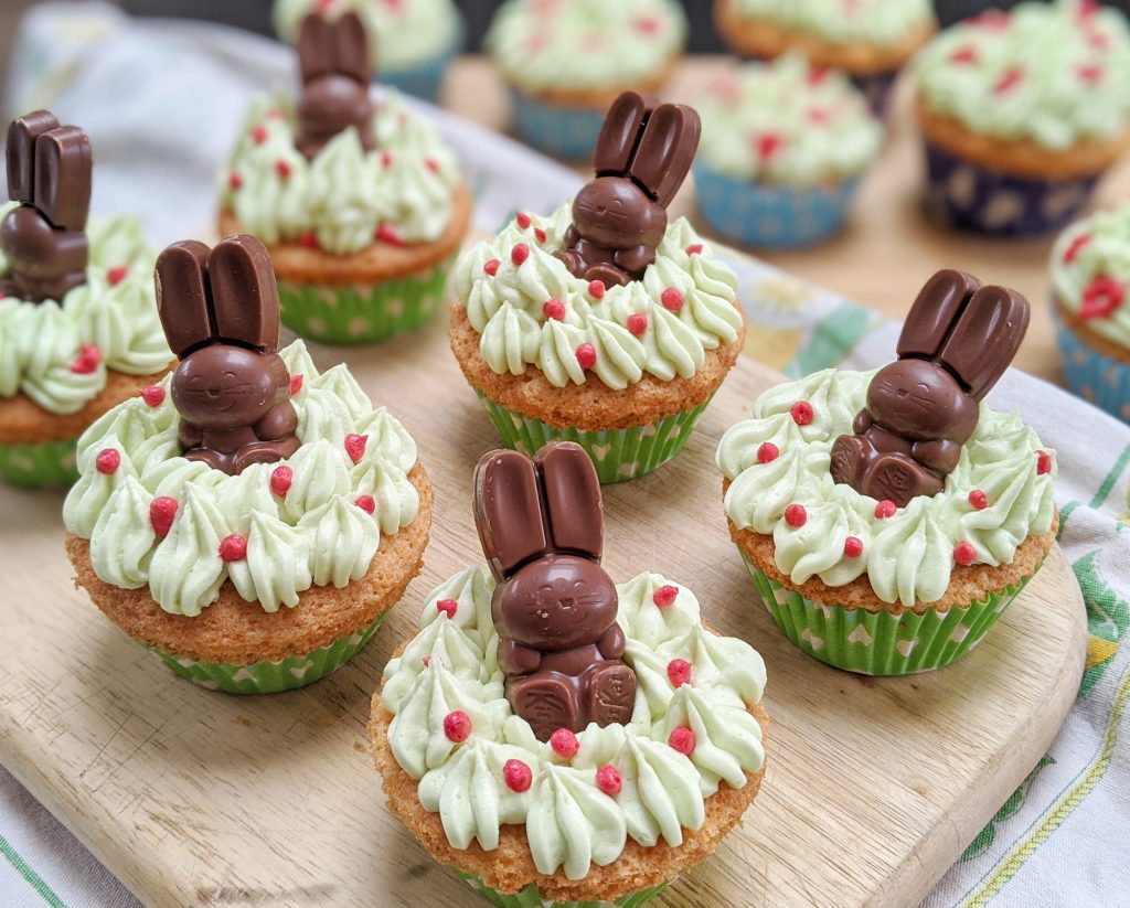 gluten free easter bunny cupcakes