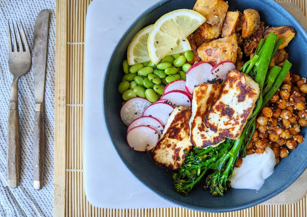 gluten free sweet potato buddha bowl