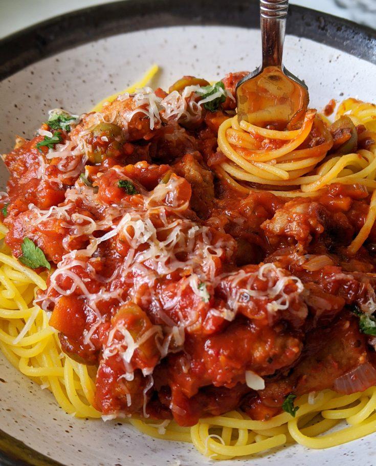 Sausage Meatball & Tomato Pasta Sauce