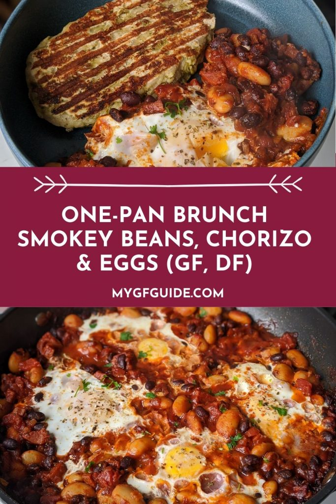 one pan brunch smokey beans chorizo eggs recipe uk gluten free