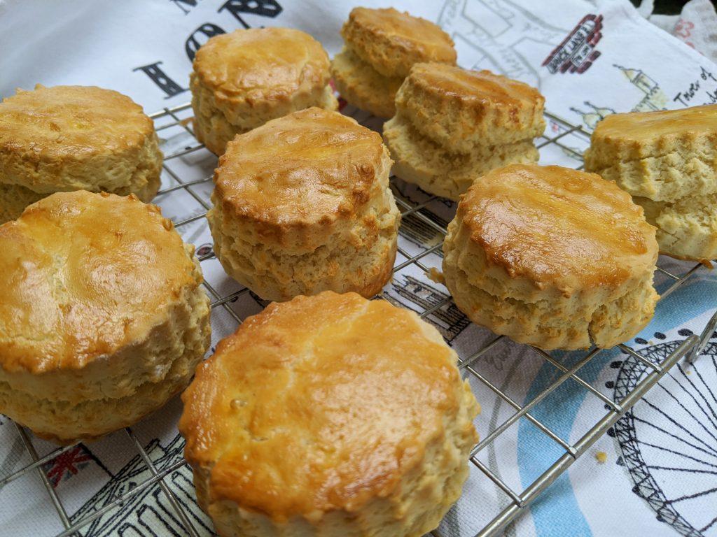 gluten free scones cooling