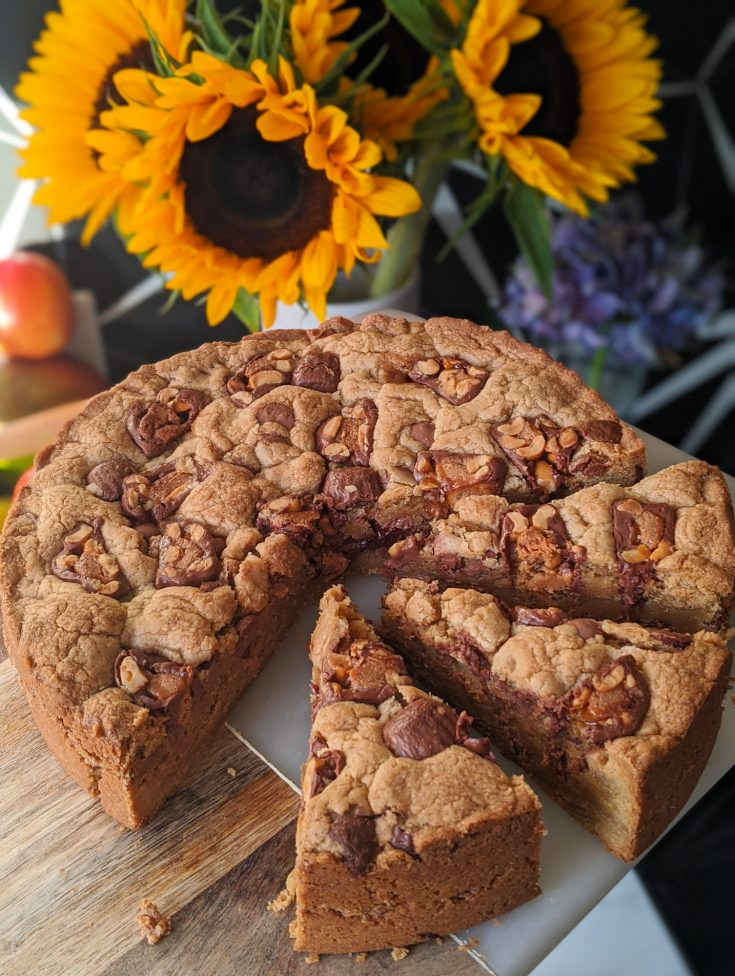 Reese's Peanut Butter & Chocolate Cookie Pie