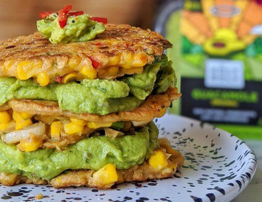 sweetcorn fritters guacamole