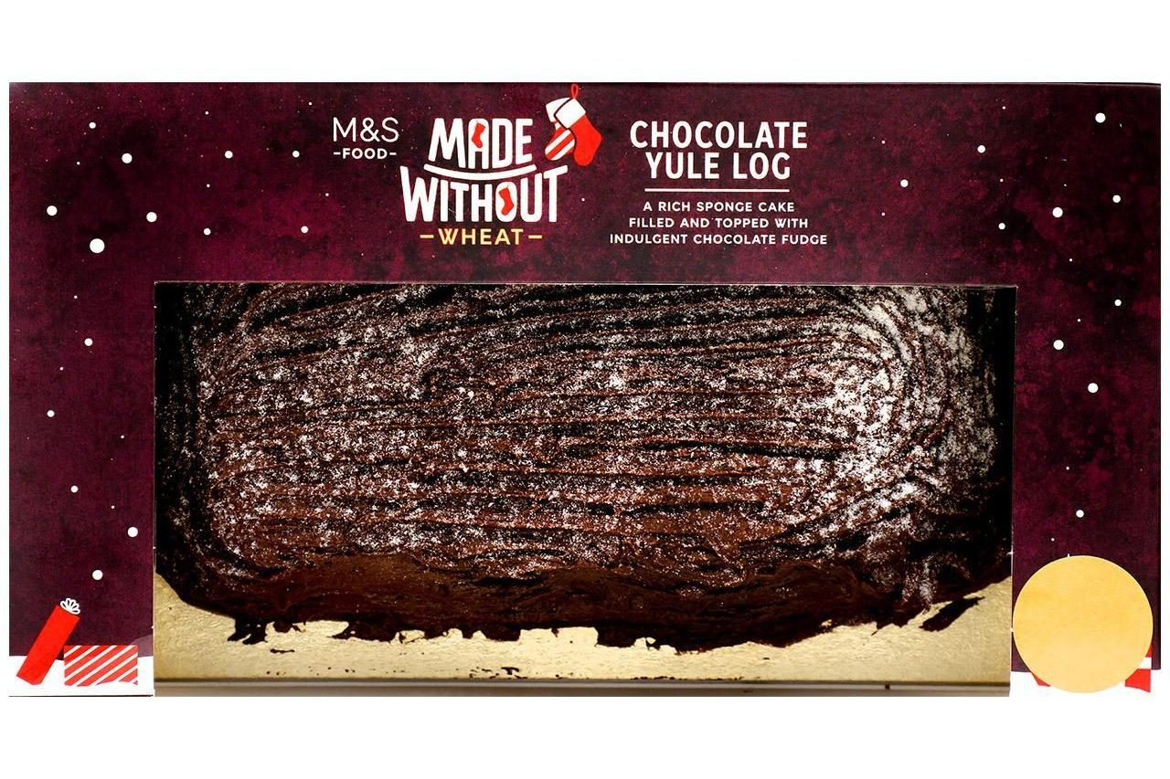 marks and spencer gluten free made without chocolate yule log 2020
