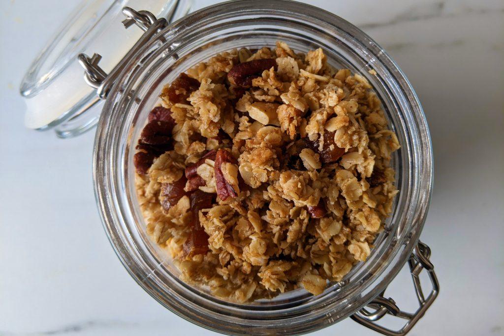 pecan and maple gluten free granola