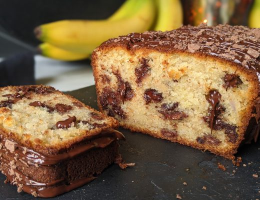 banana and choc chip loaf cake