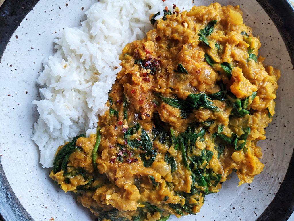 butternut squash dhal recipe