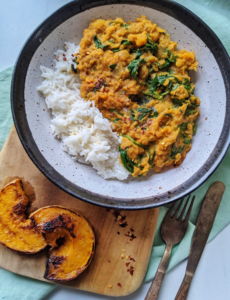 pumpkin dhal recipe