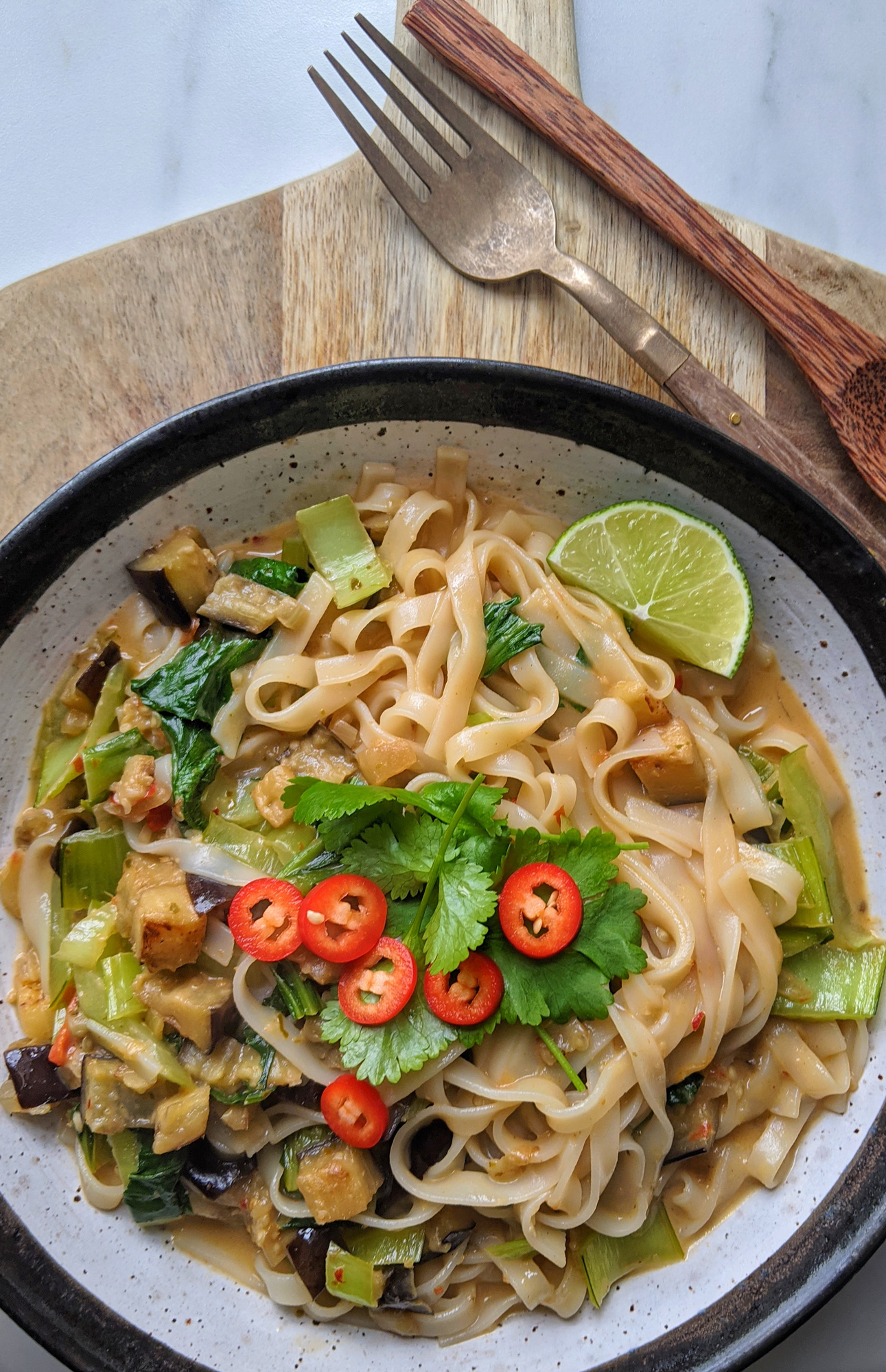 Rote Thai Curry Nudeln (GF, DF)